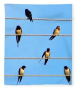 Seven Swallows Fleece Blanket