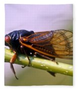 Seventeen Year Cicada Fleece Blanket