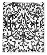 Seventeenth Century Parterre Pattern Design Fleece Blanket