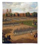 Seventh Regiment On Review. Washington Square. New York Fleece Blanket