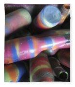 Seventies Bottles Fleece Blanket
