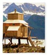 Seward Alaska House Of Stilts Fleece Blanket