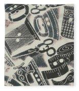 Sewing Scenes Fleece Blanket