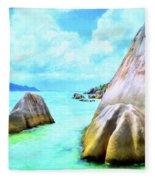 Seychelles Shallows Fleece Blanket