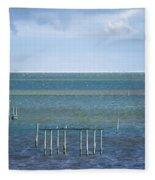 Shades Of Blue On The Horizon Fleece Blanket