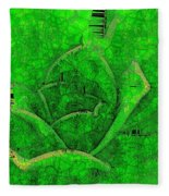 Shades Of Green Stained Glass Fleece Blanket