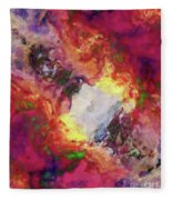 Shades Of Red Abstract Fleece Blanket