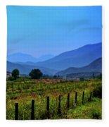 Shadow Mountains Fleece Blanket