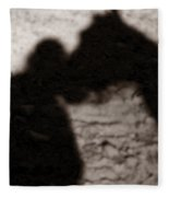 Shadow Of Horse And Girl - Vertical Fleece Blanket