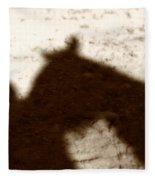 Shadow Of Horse And Girl Fleece Blanket