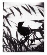 Shadow Of The Crow Fleece Blanket