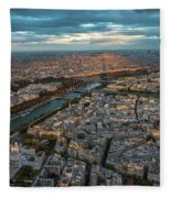 Shadow Of The Eiffel Tower Fleece Blanket