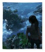 Shadow Of The Tomb Raider Fleece Blanket