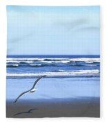 Shadow On The Sand Fleece Blanket