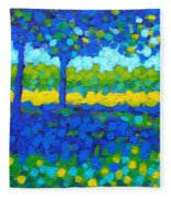 Shadow Trees Fleece Blanket