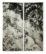 Shadows And Lace Fleece Blanket