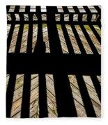 Shadows And Lines - Semi Abstract Fleece Blanket