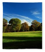 Shadows And Trees Of The Afternoon - Monmouth Battlefield Park Fleece Blanket