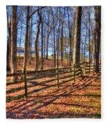 Shadows In Autumn Fleece Blanket