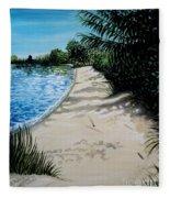 Shadows In The Sand Fleece Blanket