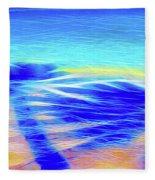 Shadows In The Surf Fleece Blanket