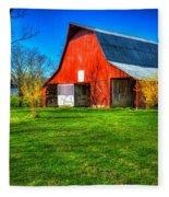 Shadows On The Barn Tennessee Farm Art Fleece Blanket