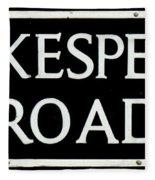 Shakespeare Road Uk Fleece Blanket