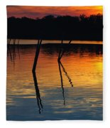 Shallow Water Sunset Fleece Blanket