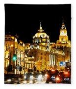 Shanghai City 1 Fleece Blanket