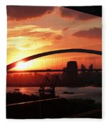 Shanghai City 12 Fleece Blanket
