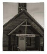 Shaniko Wedding Chapel Fleece Blanket