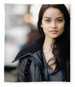 Shanina Shaik Fleece Blanket