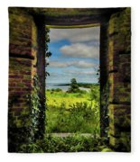 Shannon Estuary From Abandoned Paradise House Fleece Blanket by James Truett