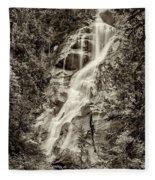 Shannon Falls - Bw Fleece Blanket