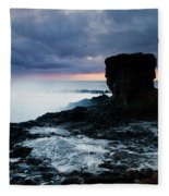 Shaped By The Waves Fleece Blanket