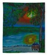 Shared Sunset Hamilton  Fleece Blanket