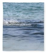 Shark Catching A Fish Fleece Blanket