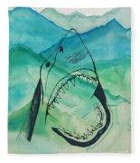 Shark Mountain  Fleece Blanket