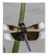 Sharp Focus Dragonfly Fleece Blanket