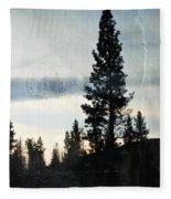 Shasta Trinity National Forest Sunrise Portrait Fleece Blanket