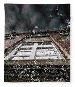 Shattering Pieces Of Glass Falling From Window Fleece Blanket