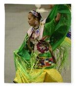 Pow Wow Shawl Dancer 3 Fleece Blanket