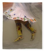 Pow Wow Shawl Dancer 8 Fleece Blanket