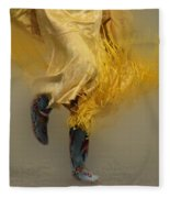 Pow Wow Shawl Dancer 9 Fleece Blanket