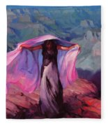 She Danced By The Light Of The Moon Fleece Blanket
