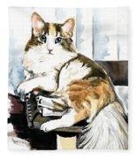 She Has Got The Look - Cat Portrait Fleece Blanket