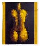 She Is Violin Fleece Blanket