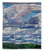 Sheared Tcu Fleece Blanket