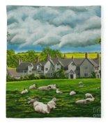 Sheep In Repose Fleece Blanket