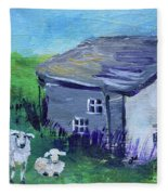 Sheep In Scotland  Fleece Blanket